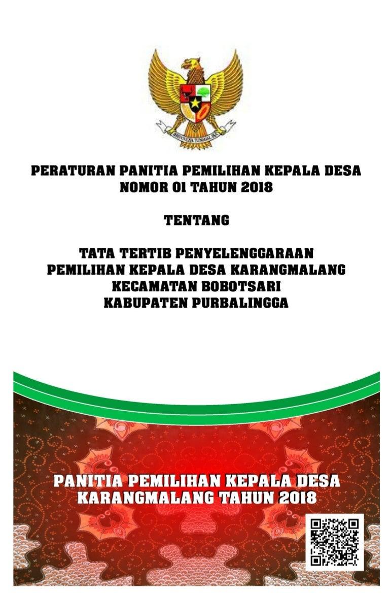 Peraturan Panitia Pemilihan Kepala Desa Karangmalang