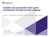Suitable and sustainable health game development through the Concept Mapping method