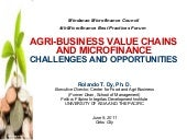 Supply Chain and Microfinance by Dr. Rolando Dy