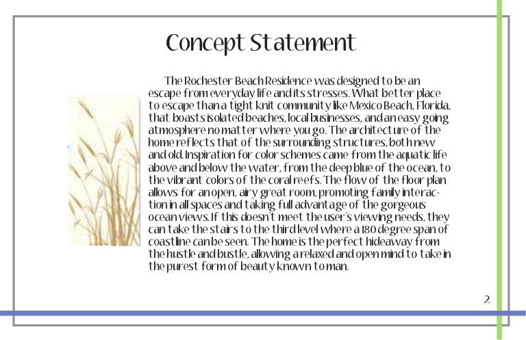 2 Concept Statement