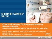 Create a roadmap for ea using capability maturity models