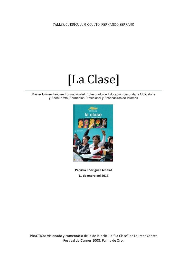 La clase-Laurent Cantet