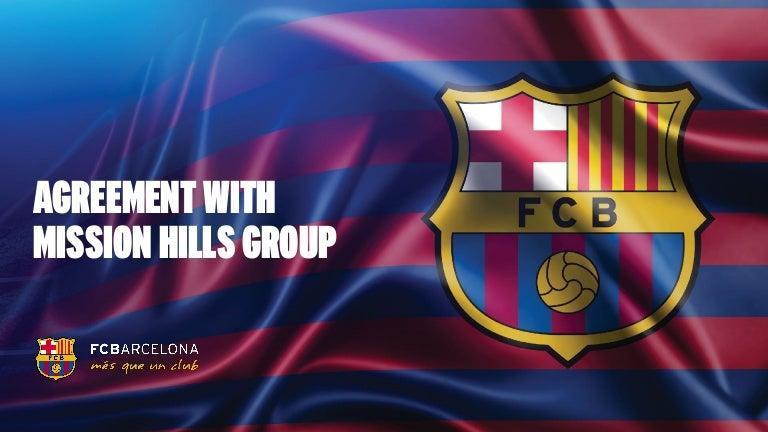 Barcelona viajará a China para cerrar el patrocinio con Mission Hills Group