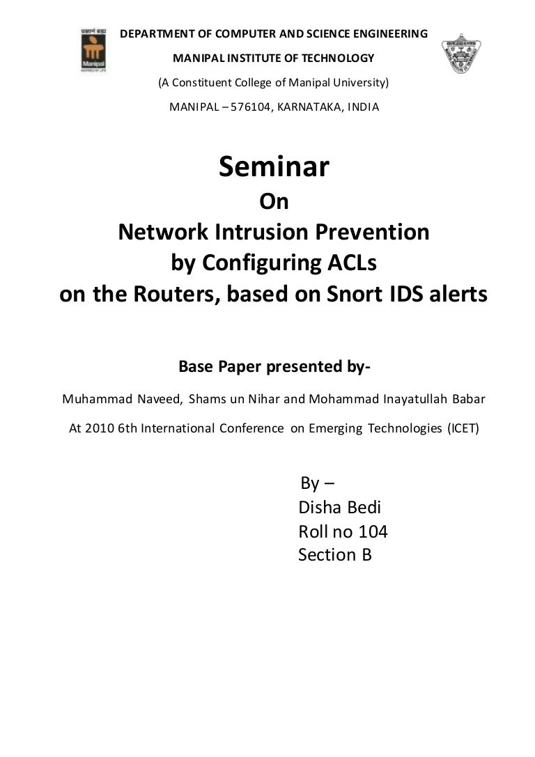 Seminar report network intrusion prevention by configuring acls on nvjuhfo Gallery