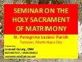 2. seminar on the holy sacrament (special)