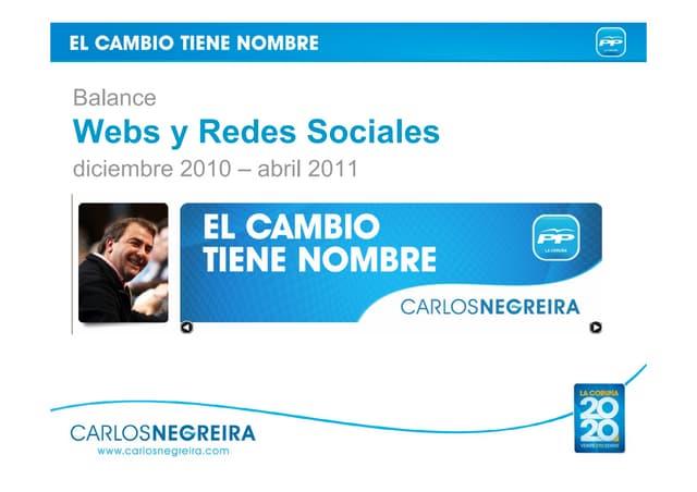 Balance de PP de La Coruña en Internet