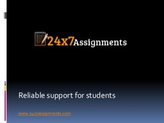 24X7 Assignment Writing Service