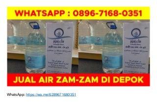 Kemasan Air Zam Zam Asli WA O896-7168-O351 di Depok