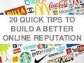 20 Quick Tips to Improve Your Online Reputation