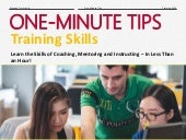 One-Minute Tips: Training Skills