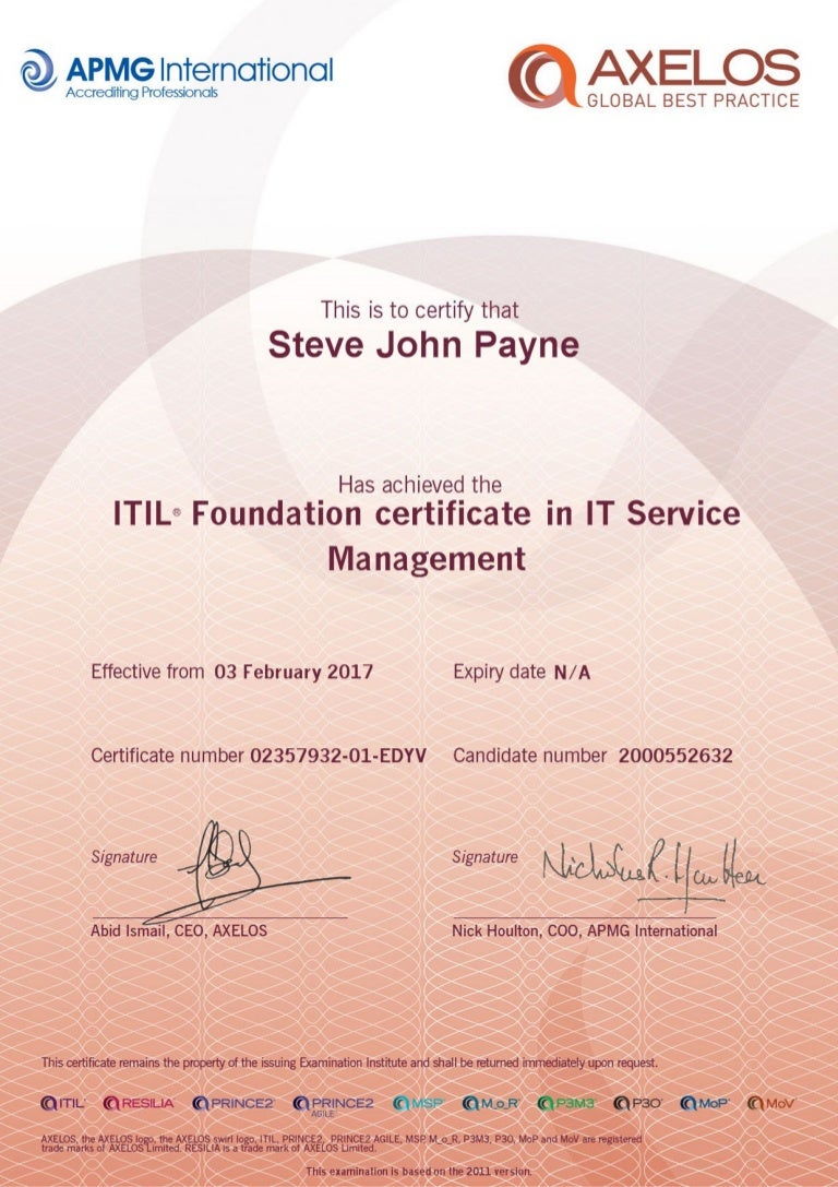 Itil foundation certificate in it service management xflitez Images