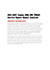 2001 2007 yamaha zuma bws yw50ap service repair manual download