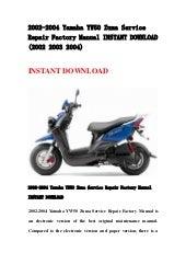 2002 2004 yamaha yw50 zuma service repair factory manual
