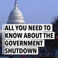Here's what you should know about the government shutdown
