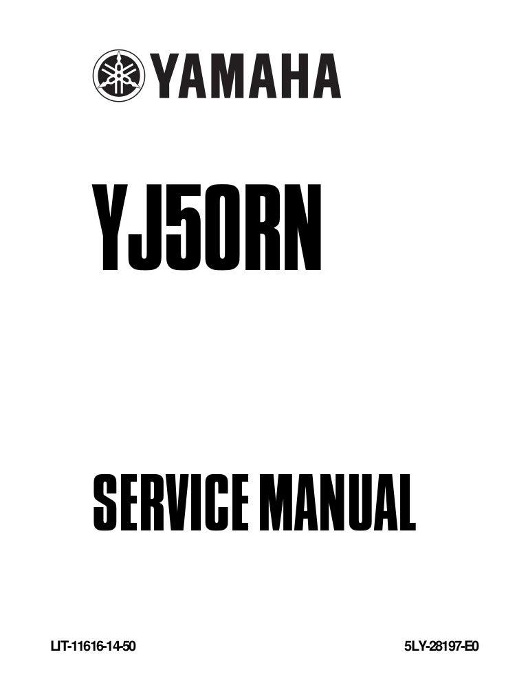 2002 yamaha yj50 r vino service repair manual