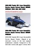2003 2006 yamaha rx 1 apex snowmobile service repair factory manual i rh slideshare net yamaha rx1 owners manual yamaha rx1 repair manual