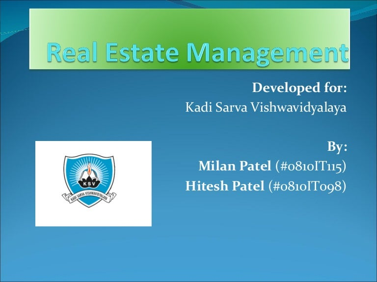 Real Estate Mnagement
