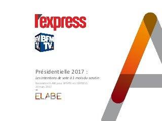 Intentions de vote présidentielles Vague 4 / Sondage ELABE pour BFMTV et L'EXPRESS