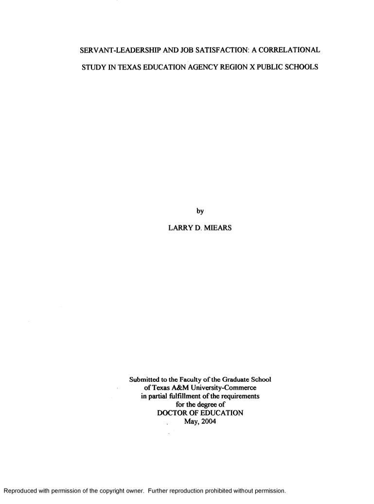 Dissertation on educational leadership