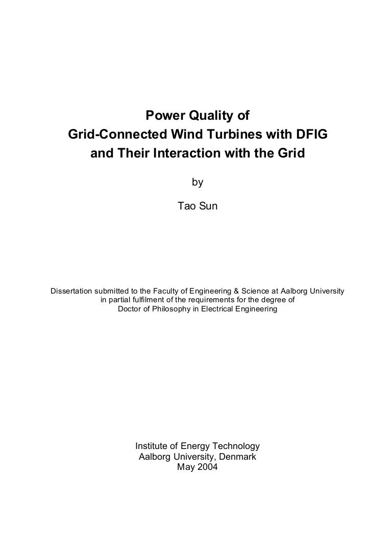 2004 Power Quality Of Grid Connected Wind Turbines With Dfig And Th Turbine Generator Wiring Diagram Besides