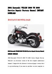 2005 kawasaki vn2000 a1 service repair manual download
