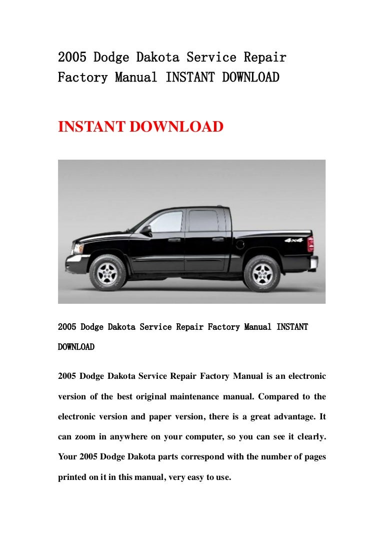 2014 dodge charger pursuit Array - 2005 dodge dakota service repair factory  manual instant download rh slideshare net