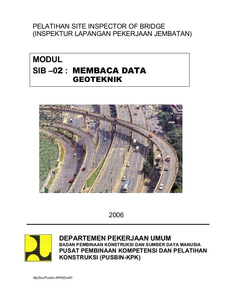2006 02 Membaca Data Geoteknik