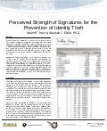(2006) Perceived strength of signatures