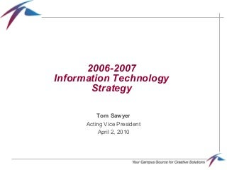Information Technology Strategy   LinkedIn