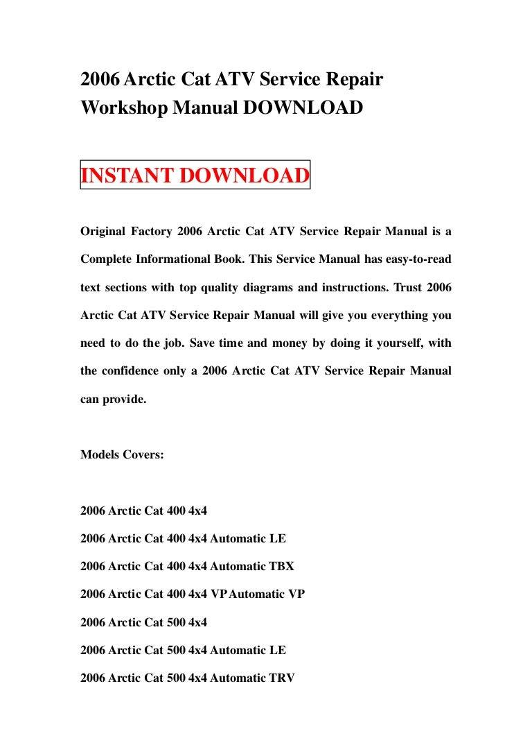 2006 Arctic Cat Atv Service Repair Workshop Manual Download 400 Engine Diagram 2006arcticcatatvservicerepairworkshopmanualdownload 130124023126 Phpapp01 Thumbnail 4cb1358994725