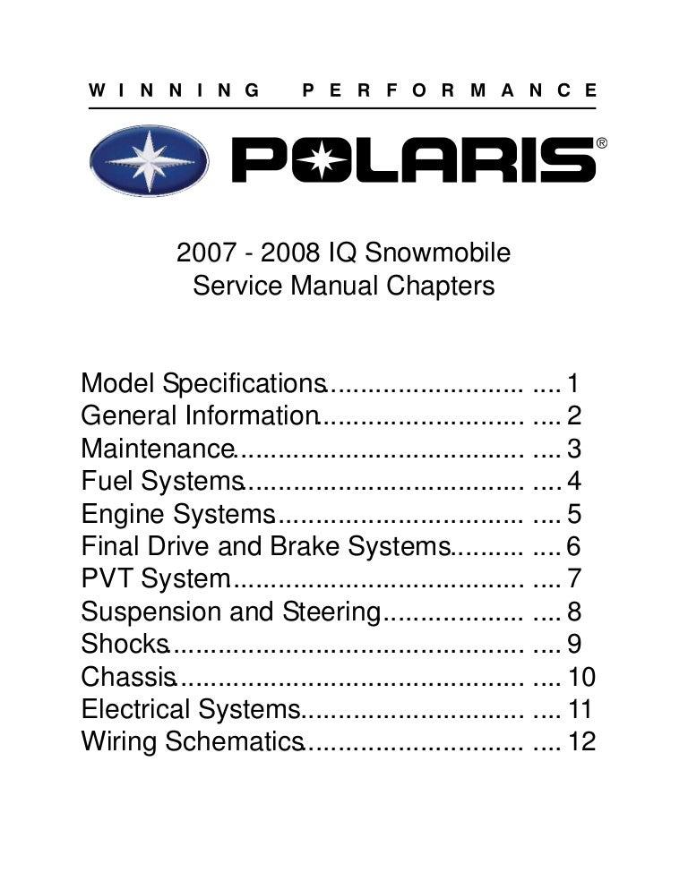2007 polaris 600 ho switchback cfi snowmobile service ...