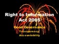 Right to Information Legislation in India
