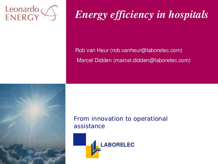 Energy Efficiency for Hospitals |Energy Efficient Hospitals