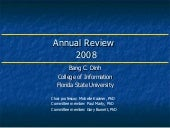 2008 Annual Review Presentation