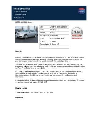 2008 infiniti g35 sedan for sale near atlanta