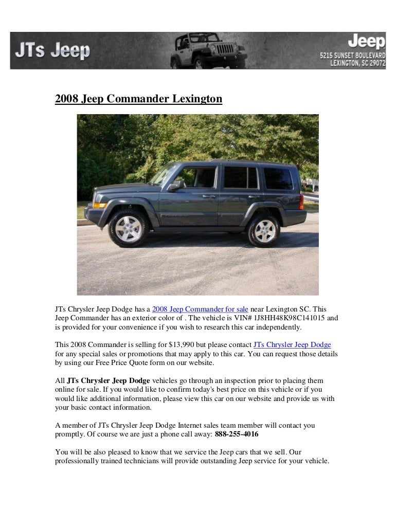 2008 jeep commander lexington