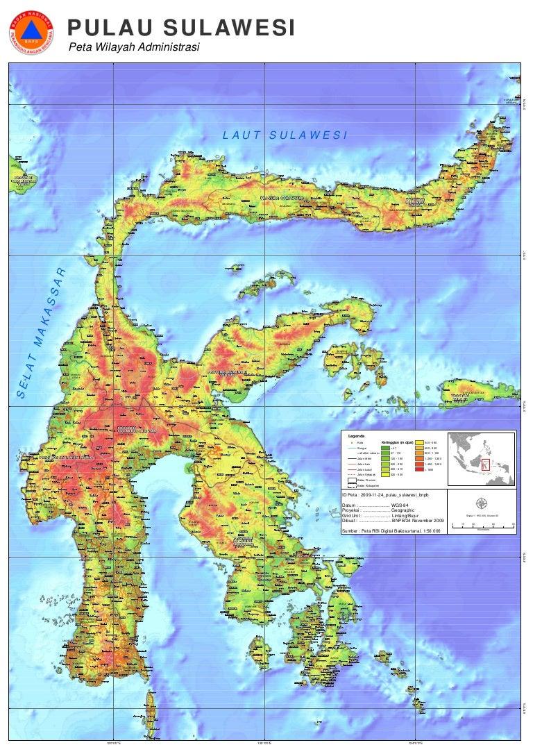 2009 11 23 Peta Sulawesi Bnpb A0 Wwwgambar