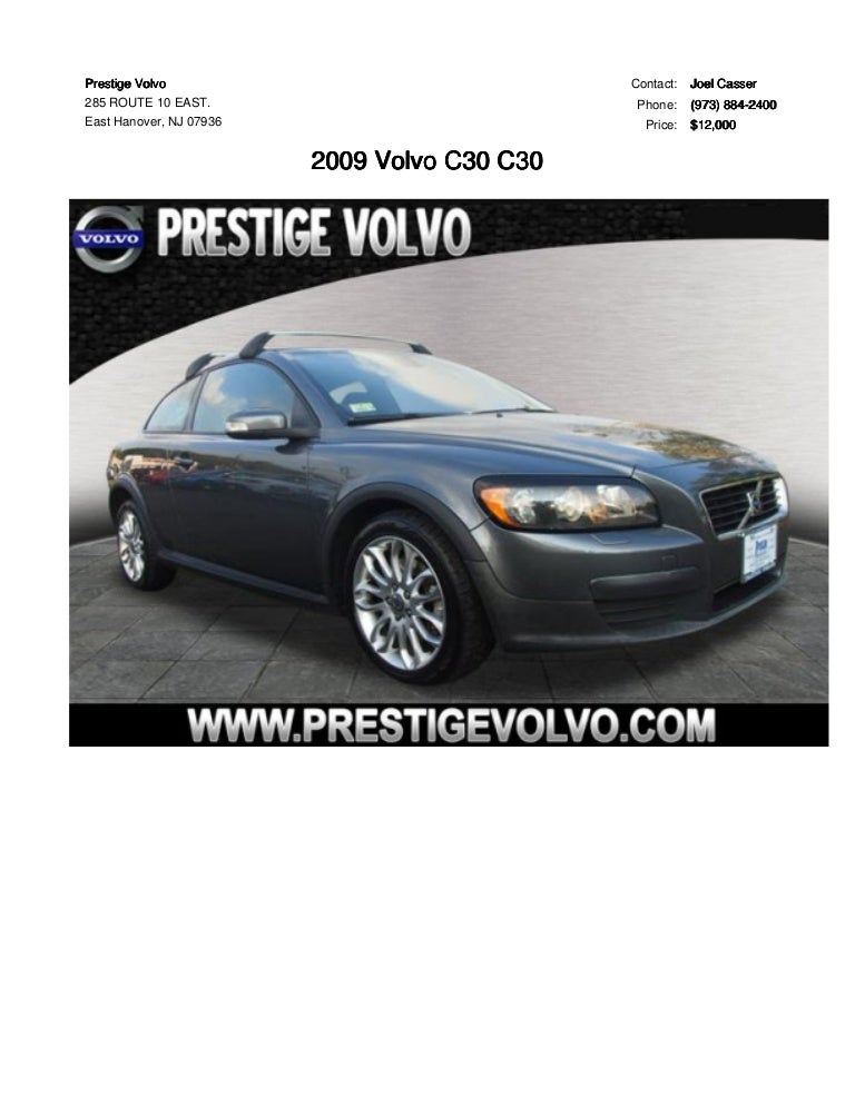 Volvo C30 For Sale >> 2009 Volvo C30 With Manual Transmission For Sale At Prestige