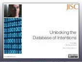 Unlocking the Database of Intentions