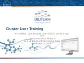 2009 cluster user training