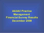 2009 Financial Survey Results