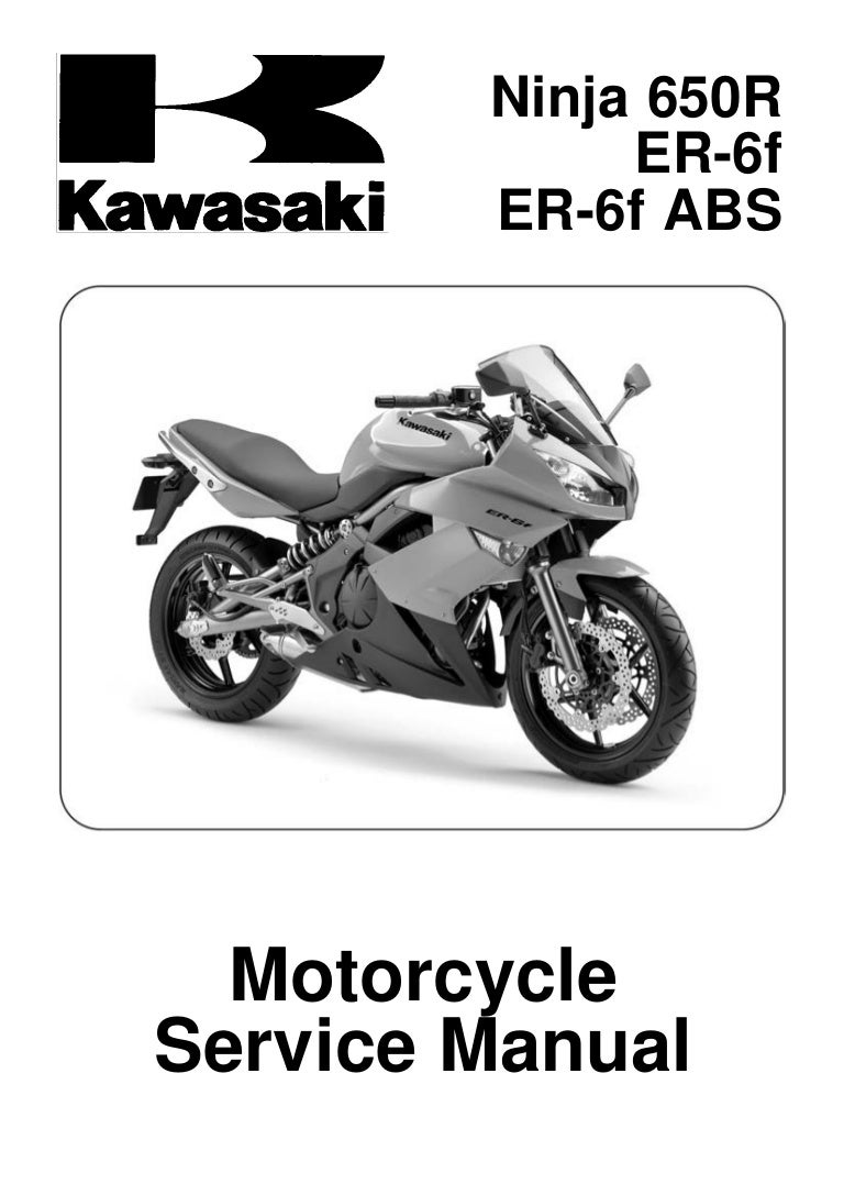 Kawasaki Er 6 Wiring Diagram Pdf Example Electrical Er6f 2009 F Ex650c9f D9f Service Manual Rh Slideshare Net Klf 300 Motorcycle Diagrams