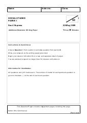 2009 My Social Studies 4 Exp Question Paper For Nhhs