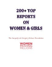 Top 200+ Reports on Women and Girls