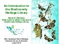 An Introduction to the Biodiversity Heritage Library