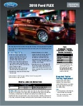 2010 Ford Flex Towing Guide Specifications CapabilitiesSlideShare