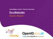OpenIdplus.nl Proof of Concept uitkomsten (in Dutch)