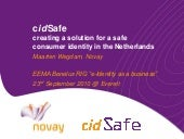 cidSafe project, 23 September 2010, for EEMA event