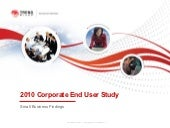 2010 corporate end user study