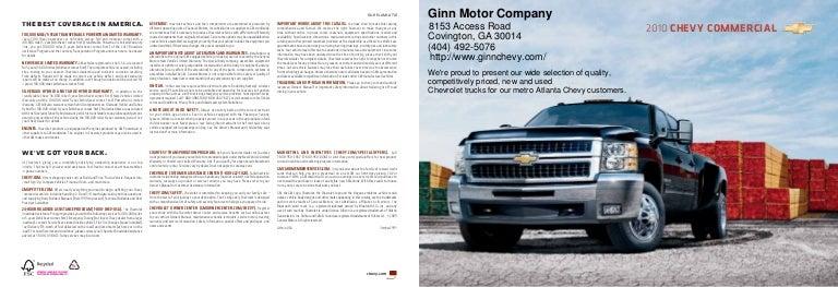 2010 Ginn Motor Company Express Atlanta Ga